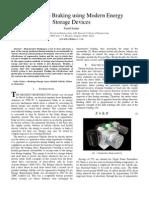 Regenerative Braking using Modern Energy Storage Devices