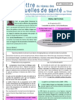 La lettre du réseau des mutuelles de santé au Tchad