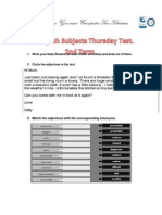 7thGrade Thursday Test 2nd Term