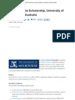 Human Rights Scholarship, University of Melbourne, Australia _ Scholarships Bank