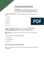 Facebook Wall Feed Documentation