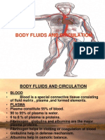 Body Fluids and Circulation