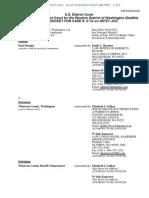 Murphy vs Whatcom County, Docket Text as of 05-16-13