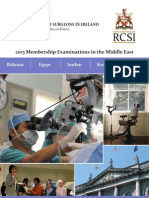 2013 RCSI Membership Examinations - Middle East (March 2013)