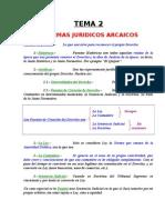 Tema 02 - Sistemas Juridicos Arcaicos.