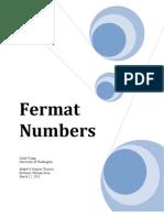 C. TSANG Fermat Numbers(2010)