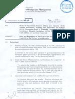 Bc2010-1 Budget Circular