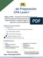 Curso de Preparacion CFA Level I (Flyer)