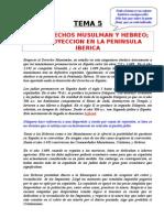 Tema 05 - Los Derechos Musulman y Hebreo.