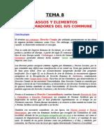 Tema 08 - Rasgos y Elementos Conformadores Del Ius Commune.