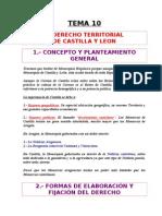 Tema 10 - El Derecho Territorial de Castilla y Leon.