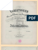 Brahms Variations Haydn Pour Deux Pianos