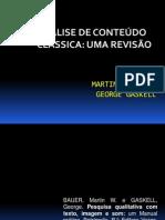 ANÁLISE DE CONTEÚDO CLÁSSICA