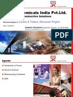 Fosroc Presentation -L&T,Dhuvaran