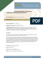 Smart Metering - Statement of Design Requirements