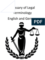 Glossary of Legal English and German Terminology