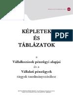 Vállalkozások Pénzügyi Alapjai és Vállalati Pénzügyek képletgyűjtemény - Javított