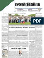 Hannoversche Allgemeine Zeitung 20110426