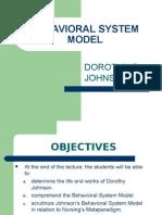 Behavioral System Model