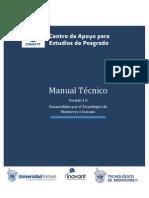 120731 Conacyt - Manual Técnico del Centro de Apoyos para Estudios de Posgrado