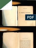 Guido Fassò Il diritto naturale  1964