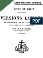 A l'Ecole de Marie - Versions Latines en L_honneur de La Sainte Vierge