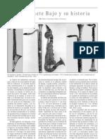 El Clarinete Bajo y Su Historia, Por Pedro Francisco Rubio Olivares