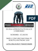 Reglamento Transformer Riotronic 2013