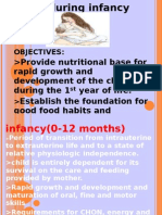 Diet During Infancy