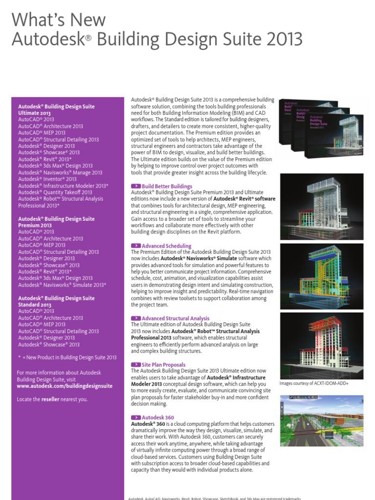 Autodesk Building Design Suite 2013 Whats New Brochure En Autodesk Auto Cad