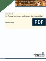La finance islamique  fondements, théorie et réalité