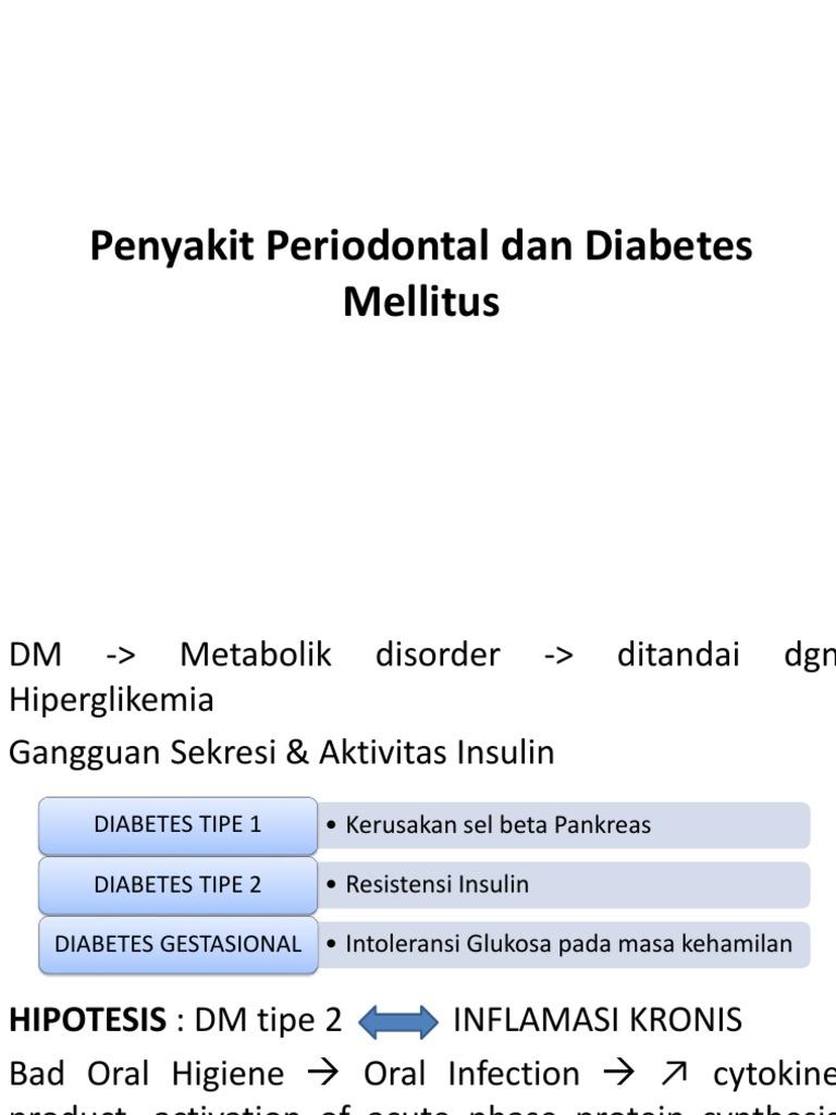 diabetes mellitus dan penyakit periodontal pada