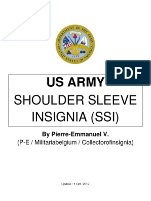 Us Army Shoulder Sleeve Insignia (Institute of Heraldry) | United