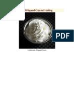 Estabilizado Whipped Cream Frosting
