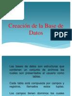 Creación de la Base de Datos