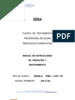 Manual de Operacion y Mantenimiento PTAR Provisional