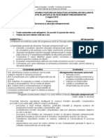 Titularizare Socio Umane Economie Ed Antreprenoriala MODEL Subiect