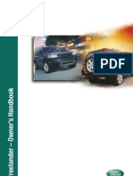 Freelander Owner Handbook Suppliment (2002)