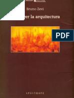 Saber Ver La Arquitectura Bruno Zevi