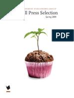 Spring 2009 Small Press Selection