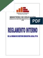 Reglamento Interno Ugel 06 2012