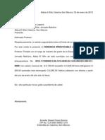 Carta de Renunicia