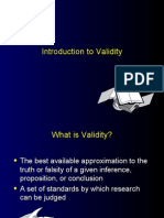 Intro to Validity