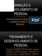 FORMAÇÃO E DESENVOLVIMENTO DE PESSOAL
