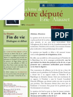 Lettre n°4 - Eric Alauzet - 16 mai 2013 - Débat Fin de vie