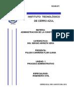 UNIDAD I. Proceso Administrativo