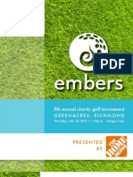 Embers Golf Tournament 2013 - Sponsorship Package