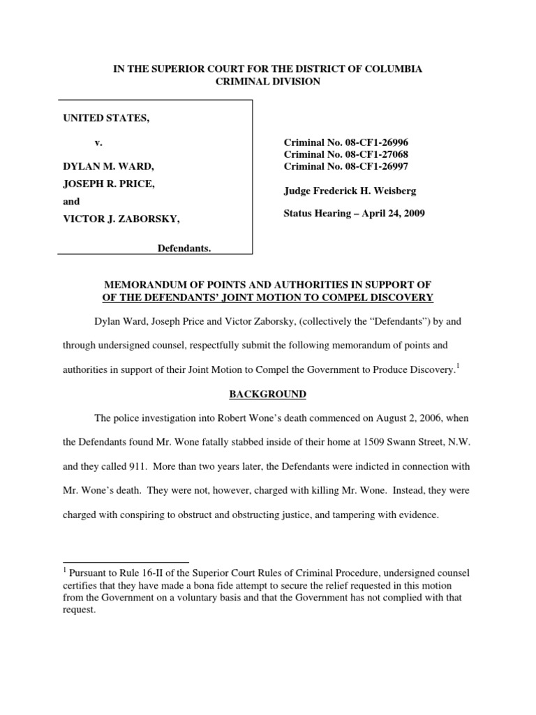 Motion To Dismiss Template Sle Motion To Dismiss ~ Beautiful Motion ...