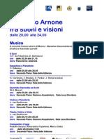 Notte dei musei 2013 - Programma Palazzo Arnone