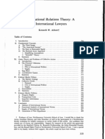 Abbott Modern International Relations Theory a Prospectus for International Lawyers